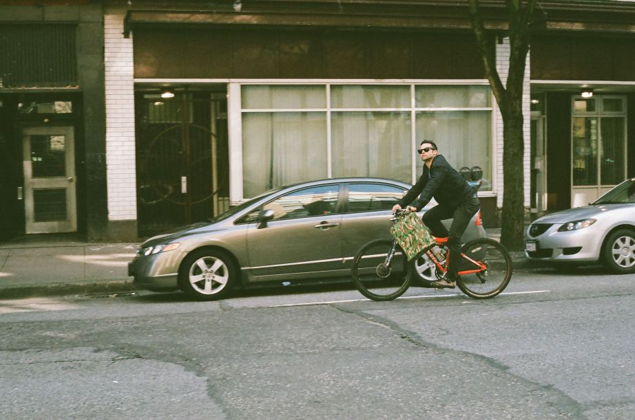 Biker on Cordova